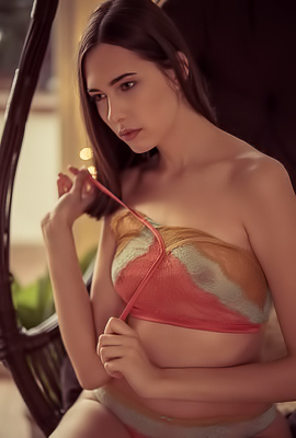 Katrine Pirs In Pastel Lingerie And Strips After